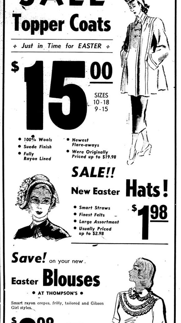 1948 clothing ad