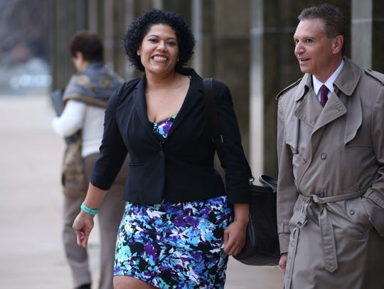 Rochester City Court Judge Leticia Astacio leaves court