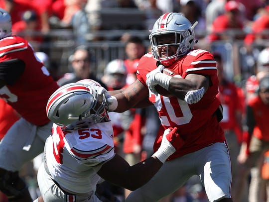 Ohio State redshirt freshman Mike Weber, the likely
