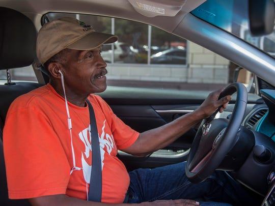 Uber driver Jackie Sanford, a former Allstate agent,