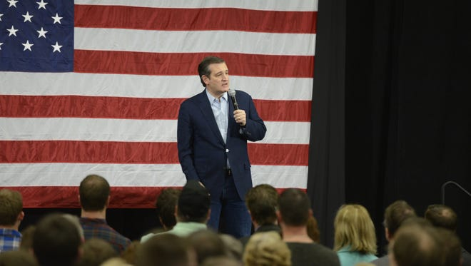 Republican presidential candidate Ted Cruz spoke to more than 2,000 supporters during a  campaign rally Sunday at the KI Convention Center in Green Bay.
