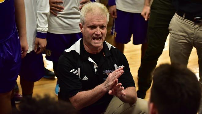 Coach Jay Mahoney of Bogota earned his 648th career boys basketball win Thursday night.
