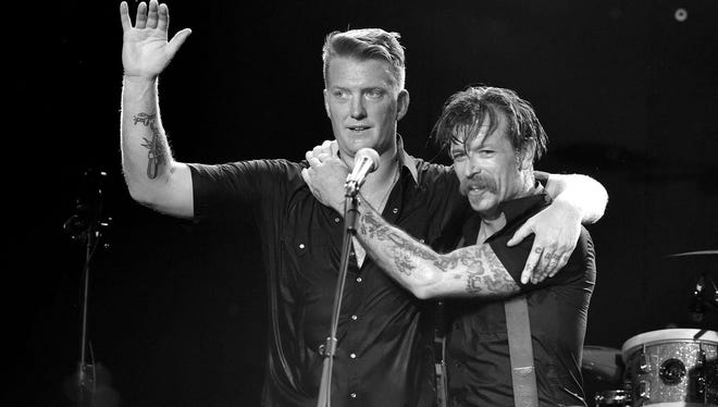 Joshua Homme, left, and Jesse Hughes, co-founders of Eagles of Death Metal.