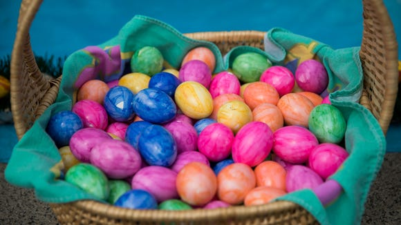 Eggs were painted and bunnies were gifted on Sunday.