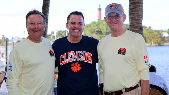 Place of Hope welcomes experienced and amateur sports enthusiasts to its 2018 Sporting Clays Fun Shoot on Jan. 19 in Palm City. Pictured are, from left, event co-chair Mike Burke, Place of Hope CEO Charles Bender, and co-chair Mike Dyer.