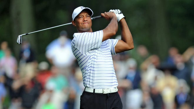 Woods during the second round of the PGA Championship.