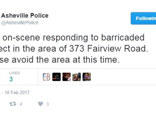 Asheville police use Twitter to communicate with the community.