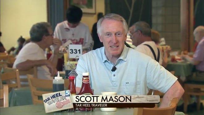 "WRAL reporter Scott Mason's new book is ""Tar Heel Traveler's Good Eats: 101 Down-Home North Carolina Classics."""