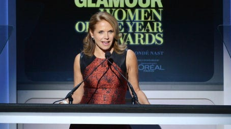 Katie Couric onstage at Glamour's 23rd annual Women of the Year awards Nov. 11 in New York.