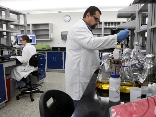 Ron Girard works at Meridian Bioscience's Newtown facility.
