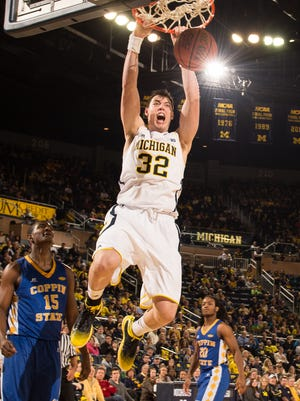 Ricky Doyle, a Bishop Verot grad, will play in his first NCAA tournament when Michigan faces Tulsa in a First Four game Wednesday in Dayton, Ohio
