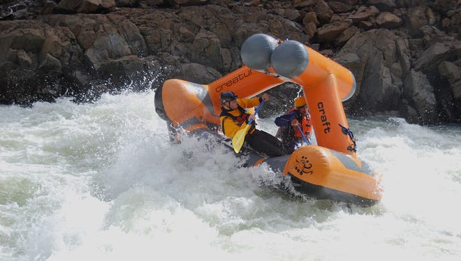 Boaters take a Creature Craft on a wild ride down the North Fork of the Smith River in northwest California.