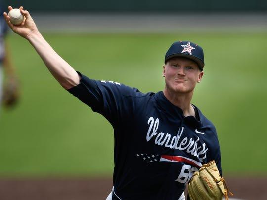 Vanderbilt pitcher Drake Fellows