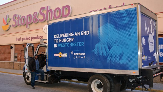 A new truck to collect donations from retail stores will leave on its maiden voyage Wednesday morning after a special ceremony at 11 a.m. at the Food Bank's Elmsford headquarters.