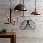 These dramatic lighting options from Crate & Barrel show a trend toward statement lighting for fall. Lighting can no longer be an afterthought with so many fun pendants.