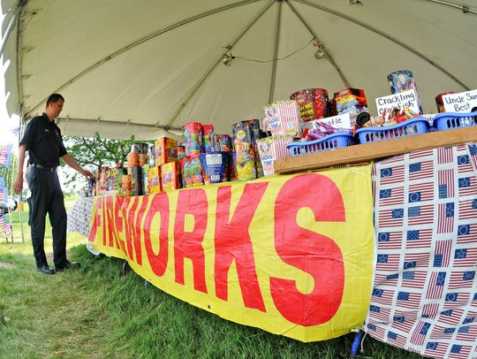 Police or fire departments often inspect fireworks