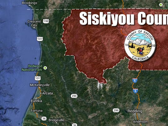 Siskiyou County map