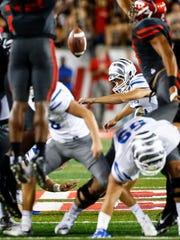 University of Memphis place kicker Riley Patterson