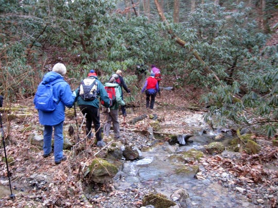 HIkers on a past Swannanoa Valley Museum hike. Hike No. 1 in the Explorer Rim Series will be Jan. 23.