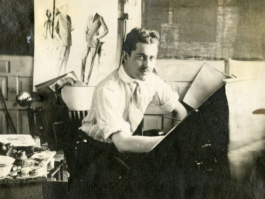 Gager Phillips Sr. (Moorehead's father) in his Philadelphia studio.