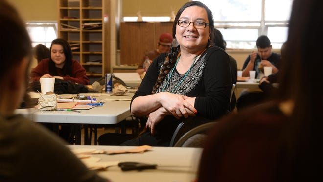 Michelle Mitchell is an American Indian academic achievement coach for GFPS and an immersion school teacher at Paris Gibson Education Center.