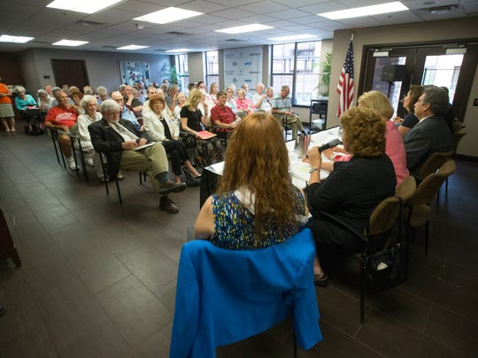 Scottsdale City Council candidates answers questions during a forum hosted by the Scottsdale Republic at Andara Retirement Community July 23, 2014.