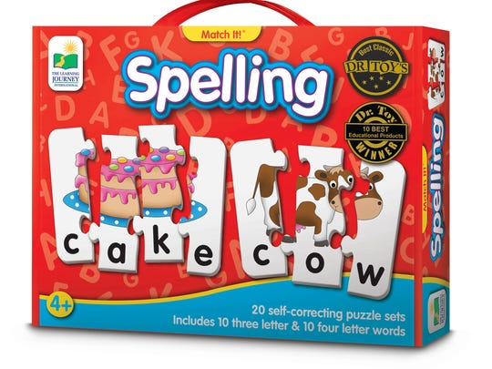 These 45 toys and products have earned the NAPPA seal of approval in 2017. Pictured is the The Learning Journey Match It! Spelling.