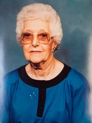 A photograph of murder-victim Mollie Mae Frazier, 81,