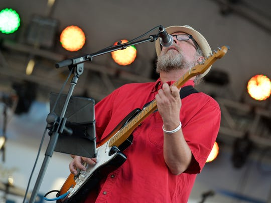 Muggsy Lauer of Collective Unconscious sings one of the songs he wrote during Saturday's set.