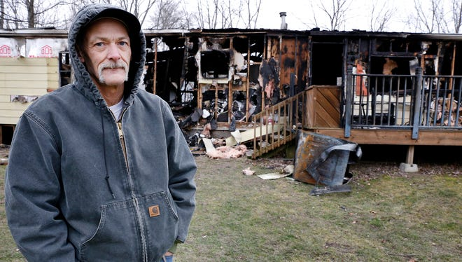 David Drake lost everything when his Town of Veteran home caught fire Friday, January 22.