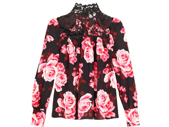 """Rosa"" blouse $258, Kate Spade, Ridgewood, The Shops at Riverside and Westfield Garden State Plaza"
