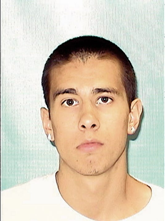 Cody Mejia, 20, is wanted by the Carlsbad Police Department after shooting at two victims on Saturday morning on Callaway Drive.