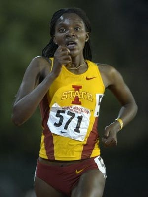 Betsy Saina, competing while at Iowa State.