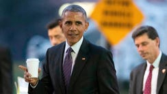 In this Nov. 29, 2016, file photo, President Barack