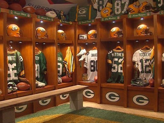 Glen Christensen's Grapevine, Texas, home is filled with Green Bay Packers memorabilia.