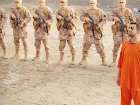 While Islamic State militants wore matching uniforms