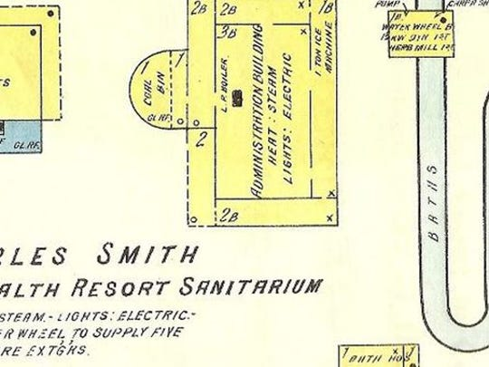 A map of the resort.