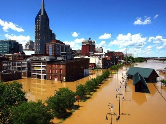 The 2010 flood caused more than $2 billion in private property damage and $120 million in public infrastructure damage in Nashville alone.
