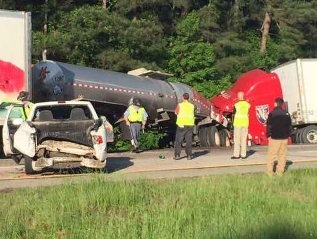 Trucking company sued in fiery Ga  crash that killed 5