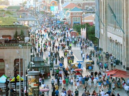 Take a stroll on the Atlantic City boardwalk.