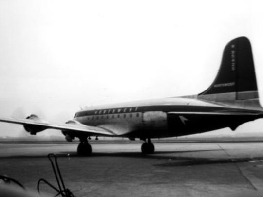 Actual picture of Northwest Orient Flight 2501.