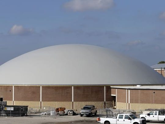 A hurricane dome in Florida in 2012, a structure that