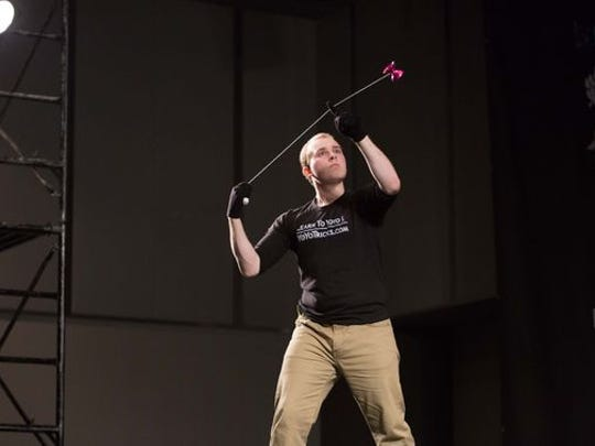 Jake Elliot competing in the World Yoyo Contest in Japan/