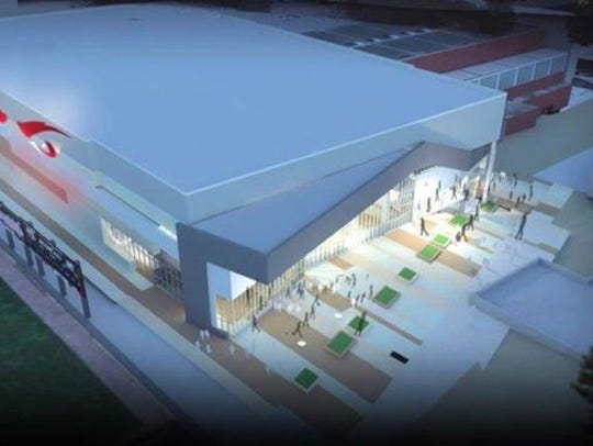 A rendering of what Fifth Third Arena will look like,