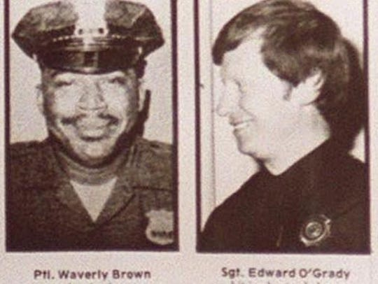 "Nyack Police Officer Waverly ""Chipper"" Brown (l) and"
