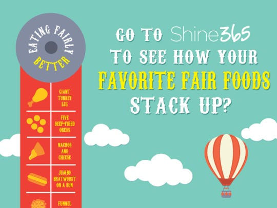 See how your favorite fair foods stack up.