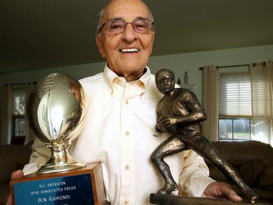 Raimondi lost touch with Indiana before finally reconnecting this year. Now 89 and living in Aberdeen, N.J., the gridiron pioneer will be inducted into Indiana University's Athletics Hall of Fame on Nov. 7.