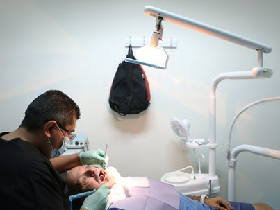 Dentist Marco I–iguez Raya looks over Palm Springs