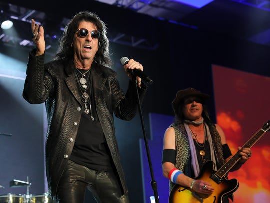 Alice Cooper performs at the 2018 So the World May