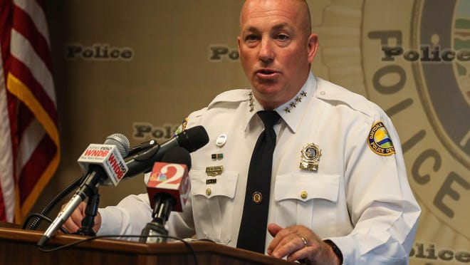 Police Chief Craig Capri about suspected drug dealer indicted for murder in Daytona fentanyl overdose. Daytona Beach on Friday, August 10,  2018.